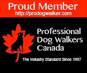 Professional Dog Walkers Canada - Rectangle Banner - Proud Member